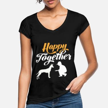 Happy Together - Pharaoh Dog & Dog Owner - T-shirt vintage Femme