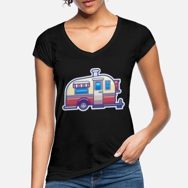 Campground Caravan tents campground - Women's Vintage T-Shirt
