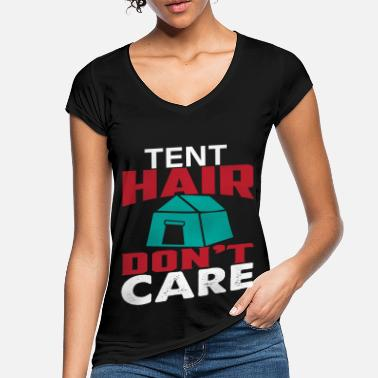 Hairstyle Tent hairstyle camping hairstyle - Women's Vintage T-Shirt