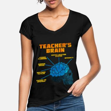 Brain Teacher brain - Women's Vintage T-Shirt