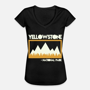 National Games Vintage Retro Yellowstone National Park T-skjorte - Vintage-T-skjorte for kvinner