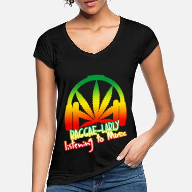 Reggae Reggea Funny saying with hemp - Women's Vintage T-Shirt