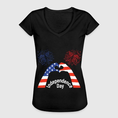 Independence Day Independence Day, USA Independence Day - Vrouwen Vintage T-shirt