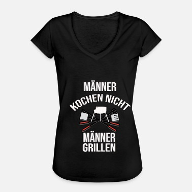 Barbecuevlees Geschenk, Grillmeester, Barbecue King, Barbecue, Grill - Vrouwen Vintage T-shirt