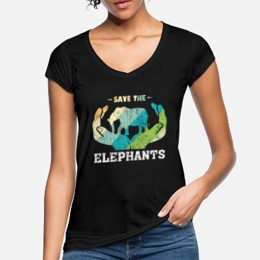 Elephant animal welfare animal rights gift - Women's Vintage T-Shirt