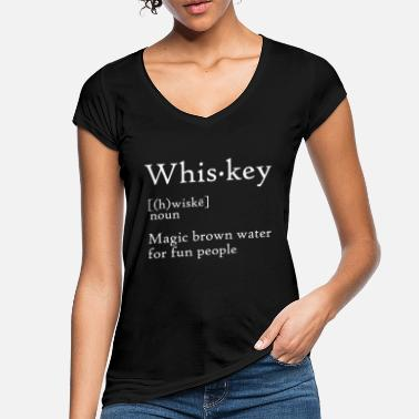 Whiskey Whiskey-definitie - Vrouwen vintage T-Shirt