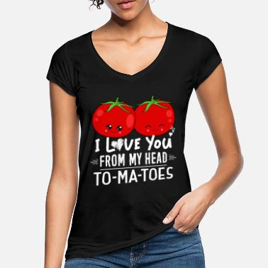 Tomato Funny Food Tomatoes themed Valentines Day T-Shirt - Women's Vintage T-Shirt