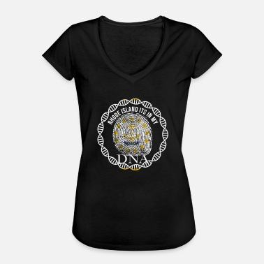 Rhode Island Rhode Island Its In My DNA Rhode Islander Flag - Women's Vintage T-Shirt