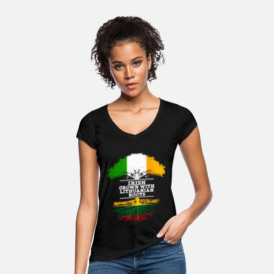 Lithuanian T-Shirts - Irish Grown With Lithuanian Roots - Women's Vintage T-Shirt black