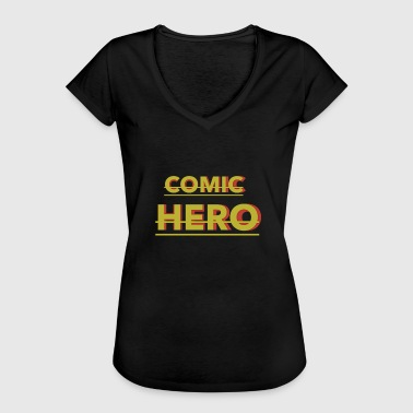Comic hero comic hero heroine cartoon manga - Women's Vintage T-Shirt