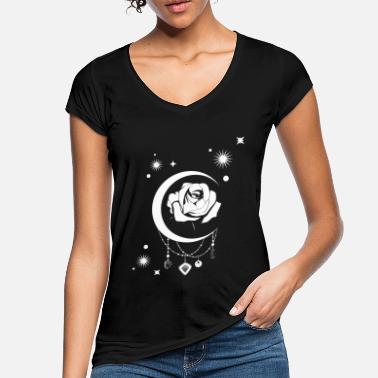 Occulte Occulte Vintage Moon Rose - Sorcellerie Occulte - T-shirt vintage Femme
