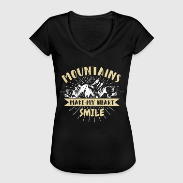 Mountaineering hiking shirt mountains nature gift - Women's Vintage T-Shirt