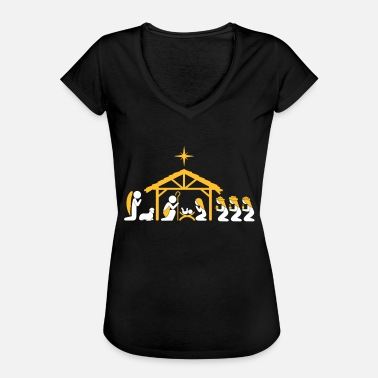 Three Kings Nativity Scene - Women's Vintage T-Shirt
