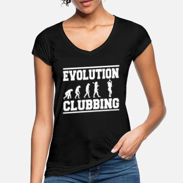 Clubbers Evolution clubbing - Women's Vintage T-Shirt