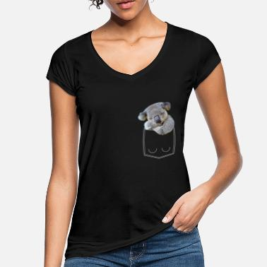 Pocket Koala bear in breast pocket shirt pocket - Women's Vintage T-Shirt