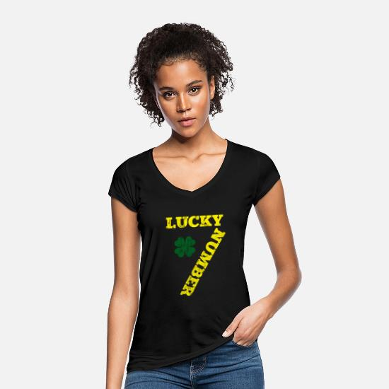 Gift Idea T-Shirts - Lucky lucky number seven gift - Women's Vintage T-Shirt black