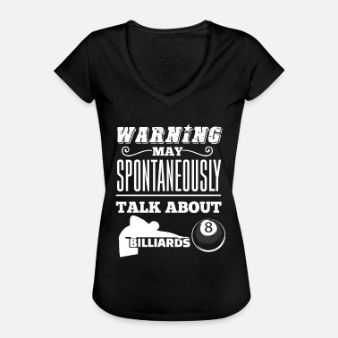 Spontaneously Billiards | Spontaneously | billiard ball - Women's Vintage T-Shirt