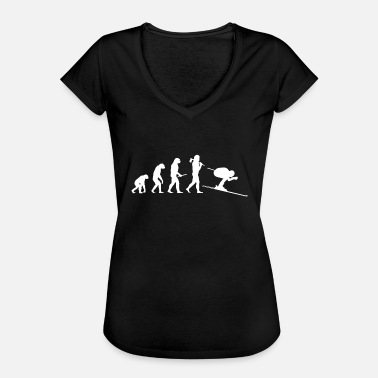 Aprèsski Evolution of the skier - Women's Vintage T-Shirt