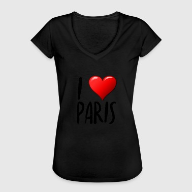 I Love Paris I Love Paris - Dame vintage T-shirt