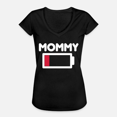 Low mommy low battery - Women's Vintage T-Shirt