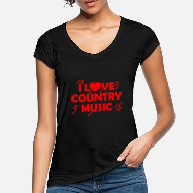 I love country music - Frauen Vintage T-Shirt