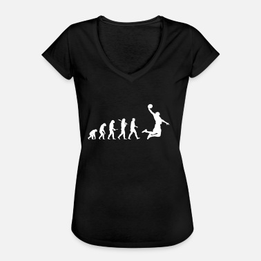 Grappige Basketball Evolution Basketball! Grappig! Dunk! - Vrouwen Vintage T-shirt