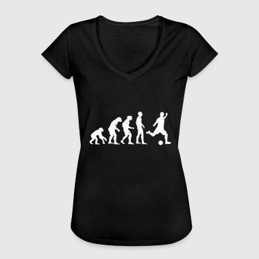 Evolution de l'évolution du football - T-shirt vintage Femme