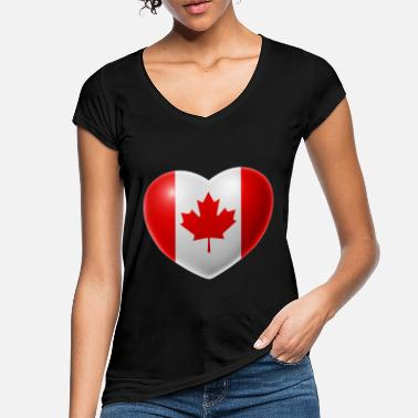 Canada Heart (Canada / Canada) - Women's Vintage T-Shirt