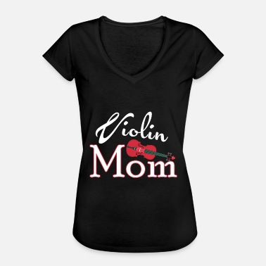Instrument Violin Present Violin Mom Stringed Instrument - Vintage-T-shirt dam