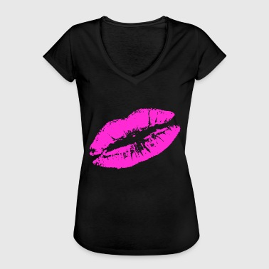 Kiss lips lipstick - Women's Vintage T-Shirt
