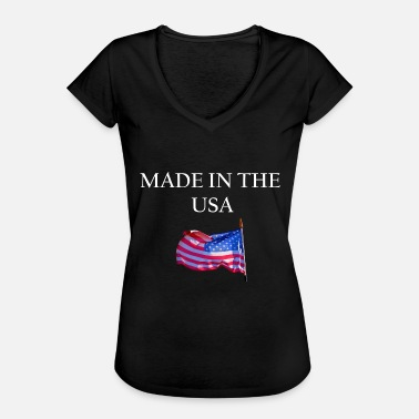 Made In Usa USA MADE IN THE USA AMERICA - Women's Vintage T-Shirt