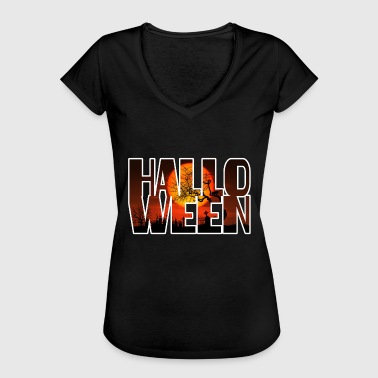Moon Sprüche Halloween Graveyard Blood Moon - Frauen Vintage T-Shirt