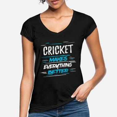 Cricket Funny Cool Funny Cricket Player TeamshirtGift - Women's Vintage T-Shirt