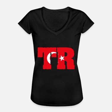 Country Abbreviation Turkey TR flag - Women's Vintage T-Shirt