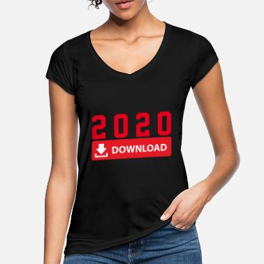 Download 2020 DOWNLOAD - NEUJAHR DOWNLOADEN - Frauen Vintage T-Shirt
