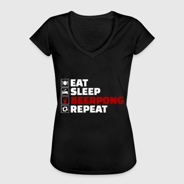 Eet Sleep BeerPong Repeat - Vrouwen Vintage T-shirt