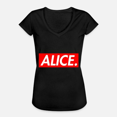 Alice I Eventyrland Alice. - Dame vintage T-shirt