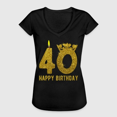 40 År Happy Birthday 40 årsdag 40 år HAPPY BIRTHDAY gave - Vintage-T-skjorte for kvinner