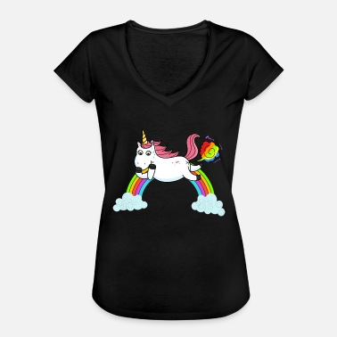 Fart Rainbow Farting unicorn rainbow - Women's Vintage T-Shirt