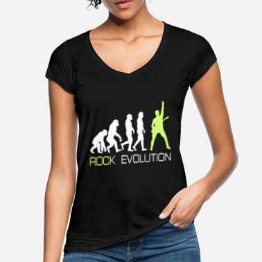 Rock And Roll Rock n Roll Heavy Metal Evolution cadeau Tee - T-shirt vintage Femme