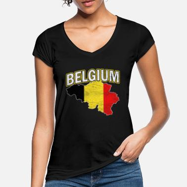 National Belgium Nation Nationality - Women's Vintage T-Shirt