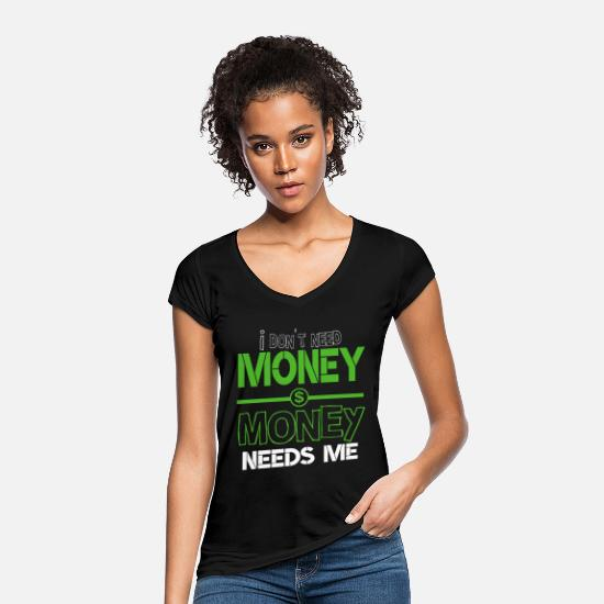 Capitalist T-Shirts - Money dollar dollar sign - Women's Vintage T-Shirt black