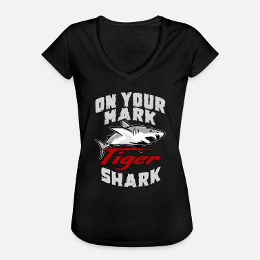 Requin Tigre Requin animaux marins requin tigre - T-shirt vintage Femme