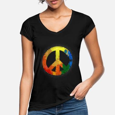Movement Hippie Hippie Movement Peace Movement Peace - Naisten vintage t-paita