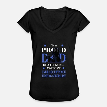 Desire Wear Makes a great gift Tee Acceptance Design Proud Dad - Women's Vintage T-Shirt