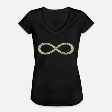 Infinity Infinity Infinity symbool Rose patroon - Vrouwen Vintage T-shirt