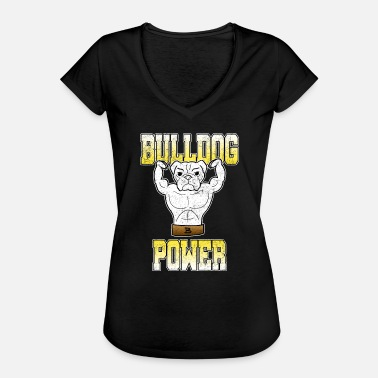 Fitnesscentre Bulldog Power Gym Bodybuiling Fitness Gave - Dame vintage T-shirt