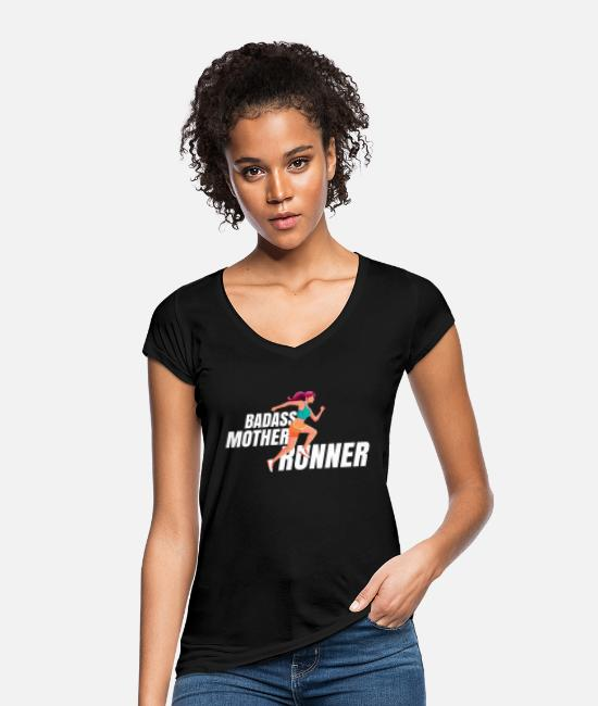 Competition T-Shirts - Jogger mother running MOM jogging Marathon - Women's Vintage T-Shirt black