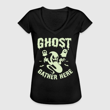Magic The Gathering Halloween Shirt Ghosts Gather Here Costume Gift Tee - Women's Vintage T-Shirt
