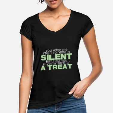 Silent Police dog saying | Policeman Treats K9 - Women's Vintage T-Shirt